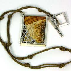 Jasper Stone Necklace - by Vickie Pozzolini