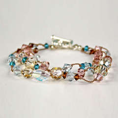 Crystal Knotted Bracelet - by Jolee's Jewels Design Team