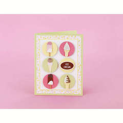 Ice Cream Dots Card Designed By Martha Stewart Crafts