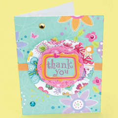 3-D Thank You Card Designed By American Girl Crafts