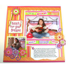 Reach for Your Dreams Page Designed By Karen Bulmahn