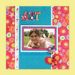 Artsy Scrapbook Page Designed By American Girl Crafts