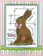 Blueprint Bunny Easter card