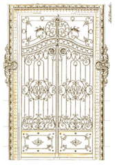 LaBlanche Wrought Iron Door