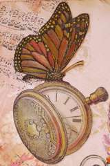 LaBlanche Monarch Butterfly & Pocketwatch