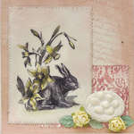 LaBlanche Stamp Company - Rabbit with Daffodils