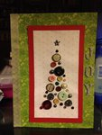 Button Christmas Tree Card
