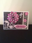 Purple and black sympathy card