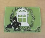 Green and Black Christmas Card