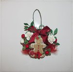 Christmas Wreath Ornament - Gingerbread Man