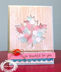 Sequined Leaf Card