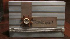 Thank You Card - Masculine