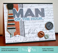 Man of the Hour card *Fancy Pants Designs