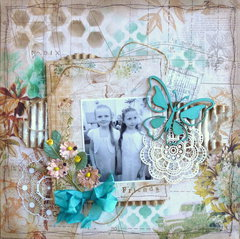 Friends **Scraps of Elegance** Molossi DT work