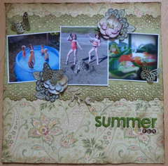 Summer Fun **Scraps of Elegance** Technique challenge