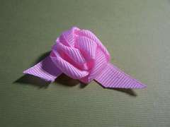 How to Make Ribbon Rose Buds