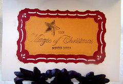 Nagic of Christmas Gold Embossed Card (Inside)