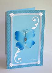 Blue Butterfly Card