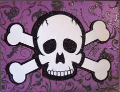 Skull and Crossbones Halloween Card