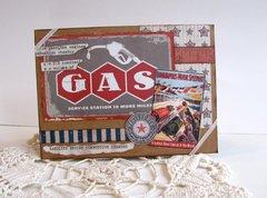 Note Card Vintage Auto Racing