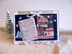 Christmas Card Snow Ad and Music