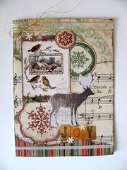 Deer and Birds Christmas Card