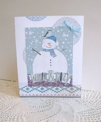 Note Card Snowman and Bird