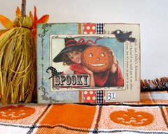 Halloween Card Girl and Jack