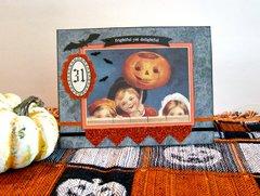 Halloween Card Three Kids