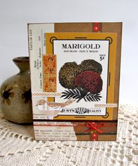 Note Card Marigold Seed Packet
