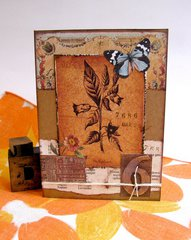 Note Card Botanical Butterfly