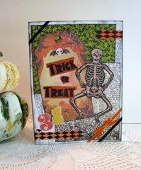 Halloween Card Skeleton