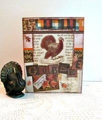 Thanksgiving Card Turkey