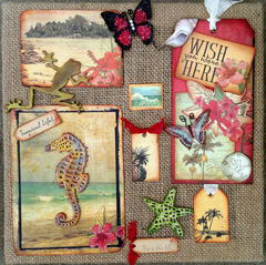 Tropicana Burlap frame - Aunty Vera Scrap and craft