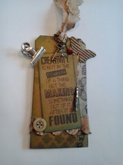 tim holtz creativity tag