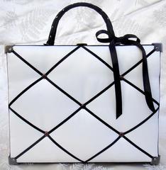 Reverse Canvas Handbag - Outside *** Flying Unicorn CT ***