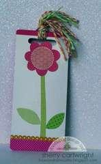 upcycled bookmark : girl
