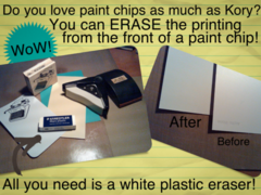 Erasing Text from Paint Chips!