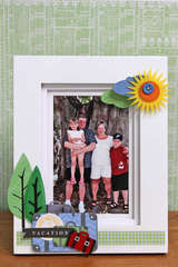 Vacation Picture frame *Little Yellow Bicycle*