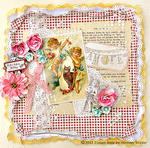 Escape Kitty - Valentine Kitty- Scraps of Elegance