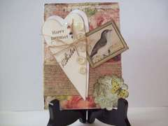 Happy Birthday Sister -vintage card