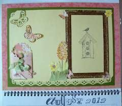 8-1/5X11 Baby Calendar   page for August 2012