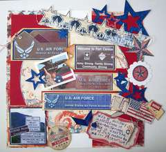 Patriotism - Home of the Brave -  (July challenge at The Paper Mixing Bowl)