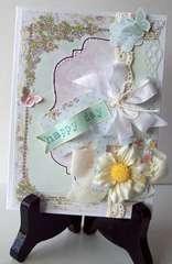 Happy Birthday Shabby Chic Card   (Ivana) card kit from TCM