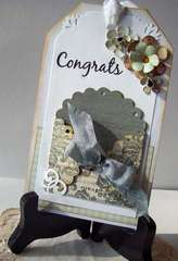 Wedding Shower card tag - gift card holder (harsh lighting!)