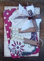 To From Christmas Tag Card