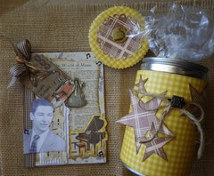 Fathers Day card and repurposed can for cookies~