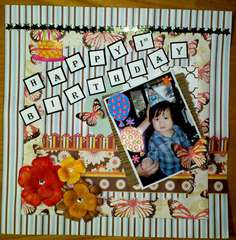 Jonathan's 1st Birthday - Layout No. 1