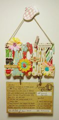 Recipe Cards Hanger + Fridge Magnet