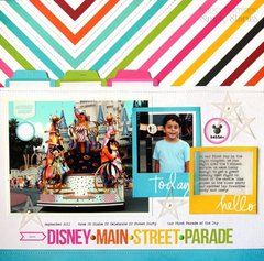 Disney Main Street Parade by Nancy Damiano